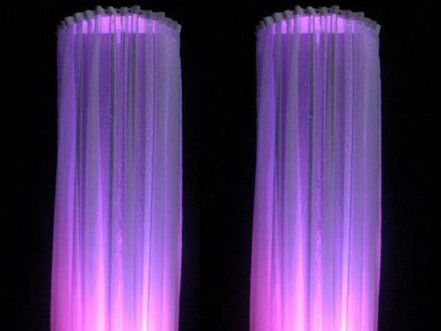 Voile zuilen - Bright Light Theatertechniek Bright Light Theatertechniek